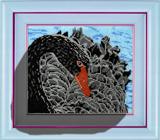 """Набор для вышивания """"Черный лебедь"""", Вышиваем бисером В39 (бисер)"""