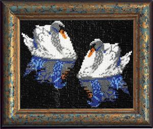 """Набор для вышивания """"Лебеди"""", Вышиваем бисером В44 (бисер)"""