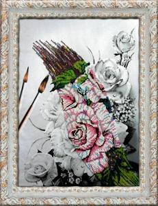 """Набор для вышивания """"Розы"""" Вышиваем бисером В56 (бисер)"""