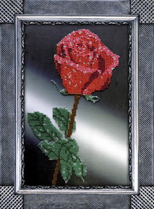 """Набор для вышивания """"Роза"""" Вышиваем бисером В8 (бисер)"""