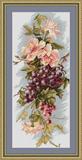 """Набор для вышивания """"Композиция с виноградом"""" Luca-S B212  (крестик)"""