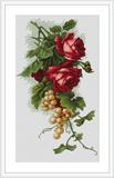 """Набор для вышивания """"Красные розы с виноградом"""" Luca-S B2229 (крестик)"""