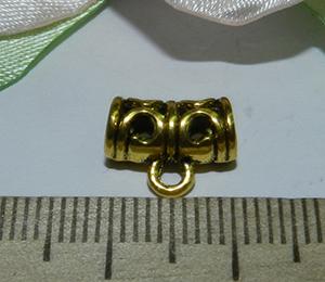 Бейл металлический золотистый Ажур 11х9х6мм