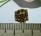 Бейл металлический золотистый Цветок 8х10х5мм