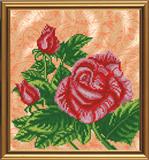 """""""Красная роза"""" Nova Sloboda БИС4071 (ткань с рисунком д/ вышивания бисером)"""