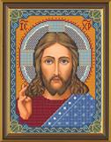"""""""Христос Спаситель"""" Nova Sloboda БИС9001 (ткань с рисунком д/вышивания бисером)"""