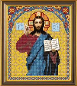 """""""Иисус Христос"""" Nova Sloboda БИС9023 (ткань с рисунком д//вышивания бисером)"""