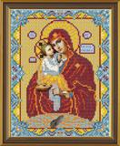 """""""Почаевская Пресвятая Богородица"""" Nova Sloboda БИС9025 (ткань с рисунком д/вышивания бисером)"""