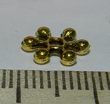 Бусина металлическая золотистая разделитель Цветок 2х9мм Zol_22