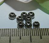 Бусина металлическая серебристая 3мм Ser_34