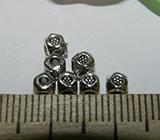 Бусина металлическая серебристая с гранями 3мм Ser_33