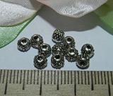 Бусина металлическая серебристая 4мм Ser_35