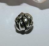 Бусина металлическая серебристая Фонарик 6мм Ser_1