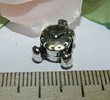 Бусина металлическая серебристая Часики 15х10х7мм Ser_21