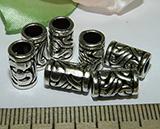 Бусина металлическая серебристая Цилиндр 11х7мм Ser_20