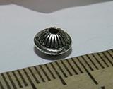 Бусина металлическая серебристая  7х5мм Ser_11