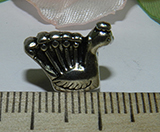 Бусина металлическая серебристая Птица 12х14х7мм Ser_12