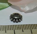 Бусина металлическая серебристая разделитель Колесико 4х8мм Ser_27