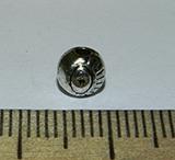 Бусина металлическая серебристая Око 5мм Ser_16