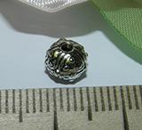 Бусина металлическая серебристая 7х6мм Ser_17