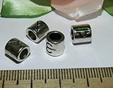 Бусина металлическая серебристая Знаки Зодиака 7х7мм Ser_9