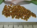 Бусина металлическая золотистая гладкая 2мм цена за упаковку Zol_upak_1