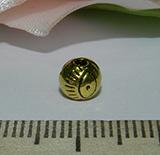 Бусина металлическая золотистая Око 6мм Zol_05