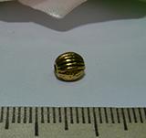 Бусина металлическая золотистая с рисунком 4мм Zol_06