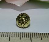 Бусина металлическая золотистая Завиток 8мм Zol_08