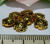 Бусина металлическая золотистая с рисунком диск 9х3мм Zol_10