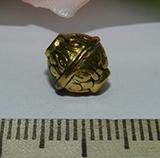 Бусина металлическая золотистая Юла 10мм Zol_11