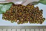 Бусина металлическая золотистая с гранями 3мм Zol_21