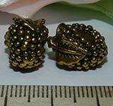 Бусина металлическая золотистая Ягодка15х10мм Zol_19