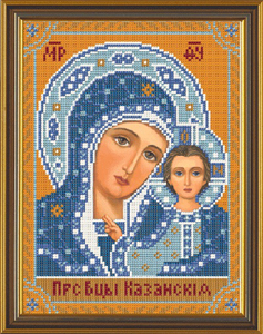 """Набор для вышивания """"Богородица Казанская"""" Nova Sloboda С9002 (бисер)"""