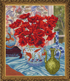 """Цветочный натюрморт. Маки"" Nova Sloboda СД 3106 (крестик)"