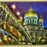 "Набор картина со стразами ""Мост с собором"" Чаривна Мить КС-058"