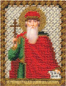 """Набор для вышивания """"Икона равноапостольного Великого князя Владимира"""" Панна ЦМ-1211 (бисер)"""
