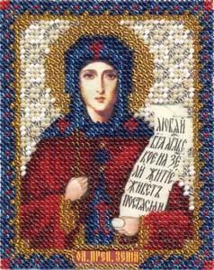 """Набор для вышивания """"Икона Преподобной Ксении"""" Панна ЦМ-1215 (бисер)"""