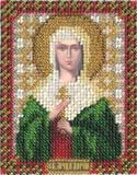 """""""Икона Святой мученицы Дарьи"""" Панна ЦМ-1217 (бисер)"""