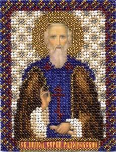 """Набор для вышивания """"Икона Святого преподобного Сергия Радонежского"""" Панна ЦМ-1303 (бисер)"""