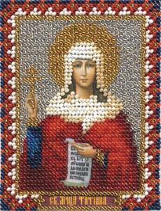 """Набор для вышивания """"Икона Святой мученицы Татьяны"""" Панна ЦМ-1306 (бисер)"""