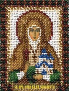 """Набор для вышивания """"Икона Преподобной мученицы Великой княгини Елизаветы"""" Панна ЦМ-1313 (бисер)"""