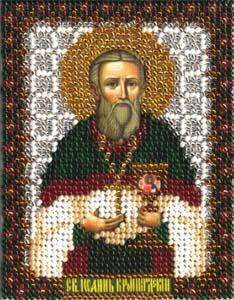 """Набор для вышивания """"Икона Святого Праведного Иоанна Кронштадтского"""" Панна ЦМ-1397 (бисер)"""