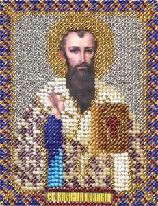 """Набор для вышивания """"Икона Святого Василия Великого"""" Панна ЦМ-1400(бисер)"""