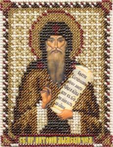 """Набор для вышивания """"Икона Преподобного Антония Дымского"""" Панна ЦМ-1401 (бисер)"""