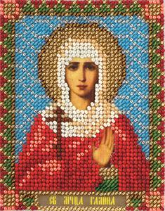 """Набор для вышивания """"Икона Святой Мученицы Галины"""" Панна ЦМ-1461(бисер)"""