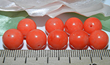 Бусина Коралл оранжевый 10