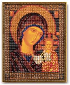 """Набор для вышивания """"Икона Казанская Богородица"""" Кроше В-148 (бисер)"""