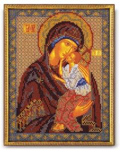 """Набор для вышивания """"Икона Ярославская Богородица"""" Кроше В-152 (бисер)"""