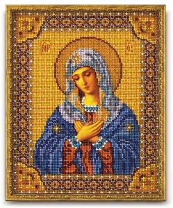 """Набор для вышивания """"Икона Богородица Умиление"""" Кроше В-153 (бисер)"""